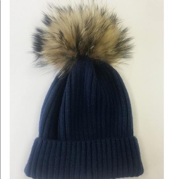 d0187b47bd5e5 Linda Richards Fur Pom Pom Hat
